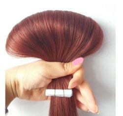 "18 "" #33 Bande Remy Hair Extensions Dark Auburn droites"