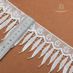 Классическая Gold Lurex небольшой цветочный полиэстер тюль кузова кружева кружева Tassel