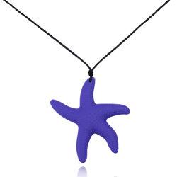 Pendente de Estrela do Mar moda jóias Colar de Silicone Material novo colar para Mulheres