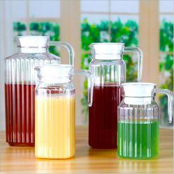 1L de Kruik van het Glas van het koude Water & de Waterkruik van het Glas met Plastic Deksel