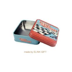 Kleiner quadratischer Form-Metallschach-Spiel-Zinn-Kasten-Vorratsbehälter für tadellose Süßigkeit-Geschenke