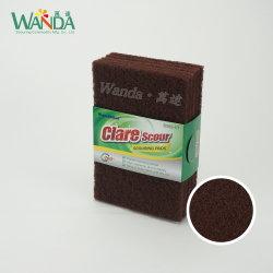 Accueil Cuisine Red-Brown tampons à récurer de nylon abrasif Tampon de nettoyage