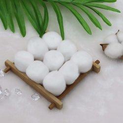 protection environnementale 100% biodégradable organiques purs absorbant doux en coton naturel de la laine de coton les billes de soin à des fins médicales et de produits cosmétiques