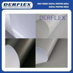 El vinilo de PVC gris / negro Volver Blockout cortina de sombra al aire libre
