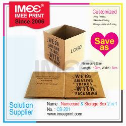 Impresión Imee Mini Ad Nombre de la caja de almacenamiento de escritorio de regalo Tarjeta Regalo Promocional Namecard