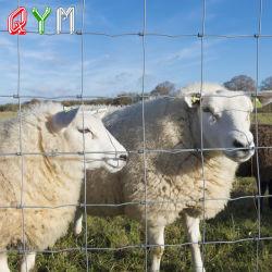 Pastizales de ganado vacuno vaca caballo de granja de animales con cerco de malla de alambre Y T Post