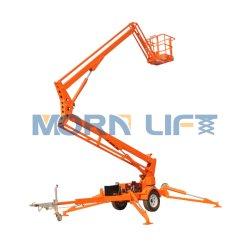 Morn 10 m hydraulischer Towable Boom Knicklift Cherry Picker für den Innen- und Außenbereich zum Verkauf