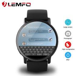 Lemfo Lemxのアンドロイド7.1.1 OS 4Gの8MPカメラGPS Bluetoothの腕時計の心拍数のモニタが付いているスマートな腕時計の電話