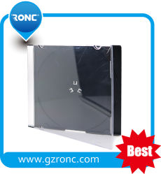 Único lado 10,4 mm de Caixa do CD com bandejas de preto