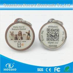 飼い犬を追跡している防水Qrコード動物はNFC RFIDのエポキシの札に付ける