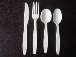 Talheres de plástico descartáveis, Garfo e colher, faca