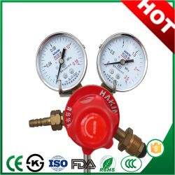 Manômetro do regulador de pressão de gás propano com aço inoxidável