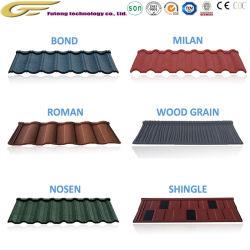 Matériau de construction de gros de l'acier tôle de toit tuile de toit recouvert de pierre