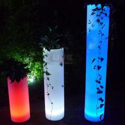Outdoor Cashepot mobilier de jardin en plastique de lumière LED LED