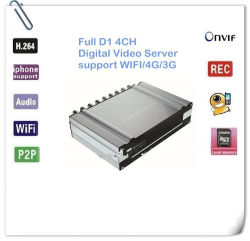 Dvs CCTV 4CH Digital Video Server mit D1, WiFi Function, View und Alarm From Your iPhone, Encoder
