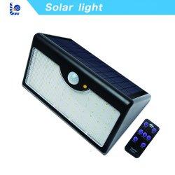PIR exterior LED Solar Powered Seguridad Sensor de movimiento de emergencia de inundación del jardín de la luz de pared