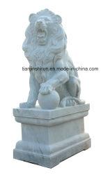 Esculturas de mármore branco Escultura Leão (ANL052)