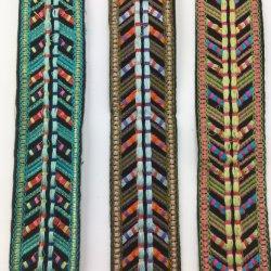 Van de Katoenen van de Singelband van het borduurwerk de Douane Geweven Band Stof van de Jacquard