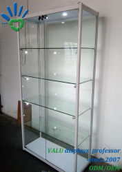 Aluminium Ingelijste Vitrine, Shop Glas Display Showcase Shelf