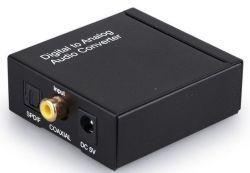 إشارة كبل محوري رقمي RCA Toslink إلى محول الصوت التناظري