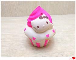 Kitty Squishies торт PU мягкий Squishy медленным ростом душистыми игрушка