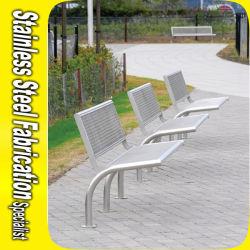 Personnalisé de la rue de plein air en acier inoxydable de banc de sièges pour le jardin