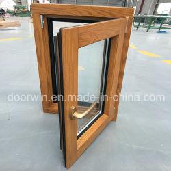 유럽인과 미국 디자인 알루미늄 목제 경사 회전 Windows