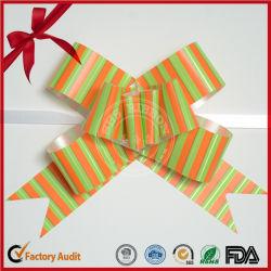 Custom полосатый PP подарок в виде бабочки потяните лук