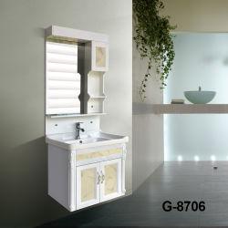 工場生産高い光沢のあるPVC上塗を施してある浴室ベース虚栄心のキャビネット