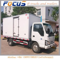 Goede Prijs van de Koude Vrachtwagen van de Doos van de Diepvriezer, KoelVan Car voor het Vervoer van het Fruit