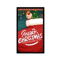 벽걸이형 43인치 실내 LCD 디지털 사이니지 Android 및 Windows 시스템 광고 쇼핑몰 미디어 플레이어