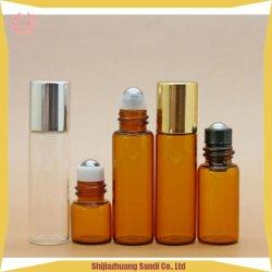 Fiale di vetro dell'olio del profumo dell'olio del Brown delle bottiglie 1ml2ml5ml dei mini di sapori contenitori molto piccoli facciali di vetro dell'olio