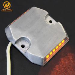 백색 12의 LEDs 갱도를 위한 알루미늄에 의하여 타전된 도로 장식 못을 황변하거든