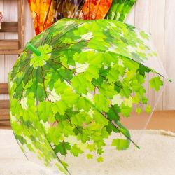 Épaissir PVC transparent feuilles vert clair de la pluie de champignons Leaf parapluie bulle en stock