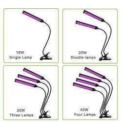 Verdoppeln zwei, die Haupt-LED Lichter mit Timer und Telecontroller 8W LED Klipp-Schreibtisch-Lampe mit für Officehome Innengarten-Gewächshaus wachsen