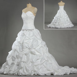 W217 Women's bustier robe de bal robe de mariée de taffetas de mariée