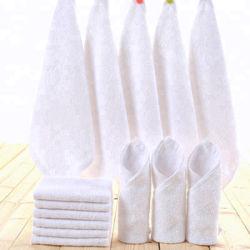 Оптовая торговля обычная загорелся белый 100% хлопок турецкой перед лицом полотенце