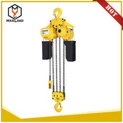 Fonctionnement à haute performance 10t palan à chaîne de levage électrique crochet de suspension