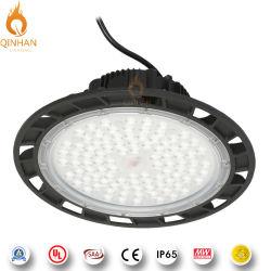 180lm/W Industrial UFO Highbay lumière à LED pour l'intérieur de l'éclairage de l'ampoule de l'entrepôt de l'atelier d'usine 100W 150W 200W 250W