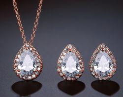 Tear Drop Ruby on Rails CZ ожерелья, Dangle Earring, устраивающих CZ ожерелья Fashion украшения устраивающих CZ ювелирные украшения свадебные украшения CZ цепочка моды, подвесная цепочка