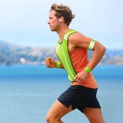 Reflektierende Laufweste Ausrüstung und 6 Stück Reflektierende Bänder für Arm Handgelenk Bein, verstellbare Sicherheitswesten gute Sichtbarkeit Armbänder Riemen Gürtel Aufbewahrungstasche für nig