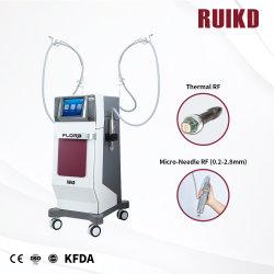 Fraccional vertical máquina Microneedle RF Micro Needloe Radiofrecuencia levantamiento facial rejuvenecimiento de la piel