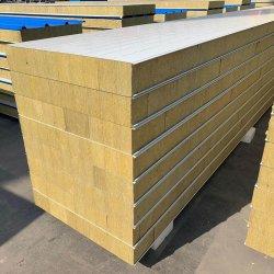 50/75/100/150/200mm de la laine de roche et de la preuve mural Panneau sandwich pour la structure en acier construction ou de la maison préfabriquée
