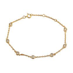 Dubai-Gold überzog Charme-Armband-Armband des Sterlingsilber-925