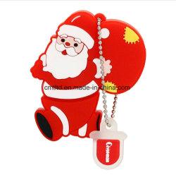 2018 선전용 크리스마스 선물은 선물 상자 패킹을%s 가진 USB 섬광 드라이브 PVC 디자인을 주문을 받아서 만들었다