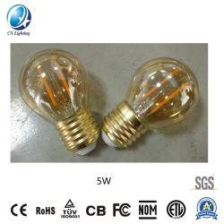 Lâmpada de incandescência LED 4000K-6500A intensidade de luz da lâmpada de incandescência LED K G45 5W E27/B22 600lm igual 60W na cor âmbar