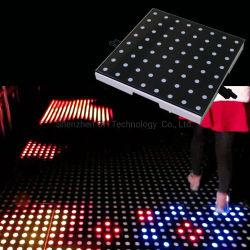 LED-Stadiums-Disco, die helles Video Dance Floor des Digital-Dance Floor ausgeglichenen Glas-LED Wedding ist