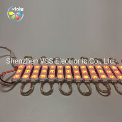 12V SMD 5050 3LEDs는 플라스틱 주입 LED 모듈을 방수 처리한다