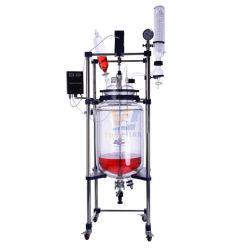 China10L 20L 50L 100L 화학 Laboratorty 재킷 유리제 반응기