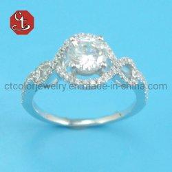 Diminutos de lujo brillante CZ anillos de compromiso de la Piedra de San Valentín romántico regalo para la novia 925 Anillos de Sterling